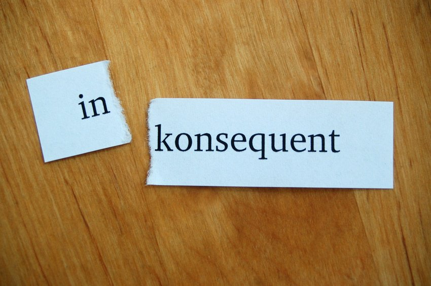 konsequent, konsequenz, inkosequent, lernen