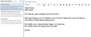 schule, managen, evernote
